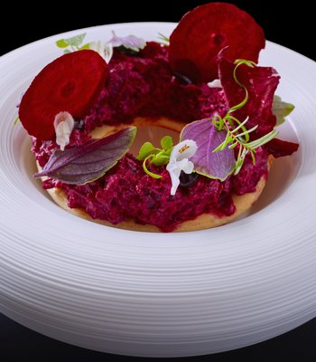 Beetroot in Romantic restaurant in Prague center on the Wenceslas Square - Gourmet restaurant in Prague city center